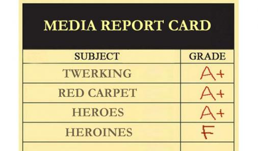 media report card