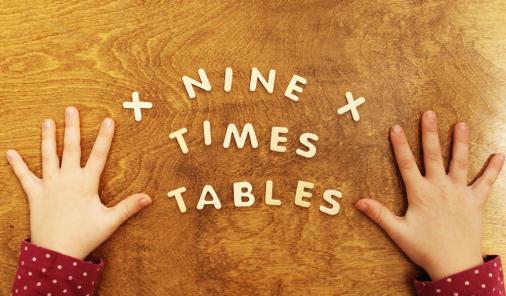 Math Trick Nine 9 times tables