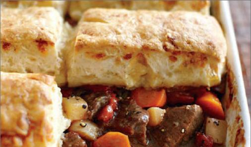 Beef Stew With Blue Cheese Biscuits Recipe