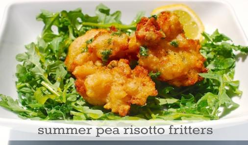 summer pea risotto fritters