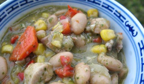 Pesto Chicken Bean Stew