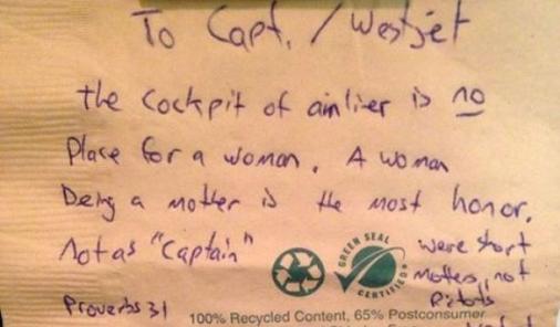 women pilots shouldn't exist