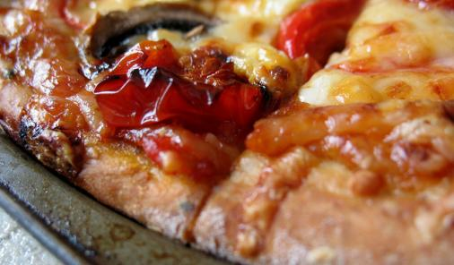 Greek Pizza with Roasted Tomatoes and Garlic Recipe