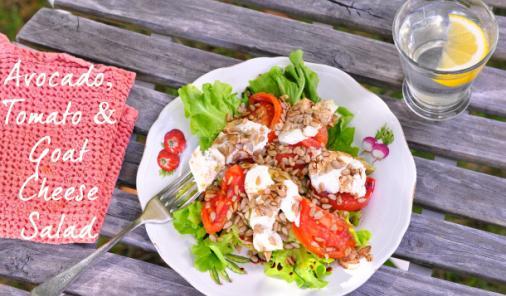 Crunchy Avocado, Tomato & Goat Cheese Salad Recipe