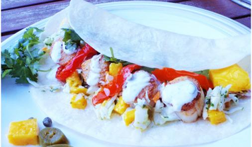 5 Spice Scallop Tacos Recipe