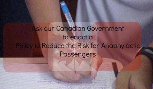 Sign the petition to ask the federal government to protect anaphylactic passengers