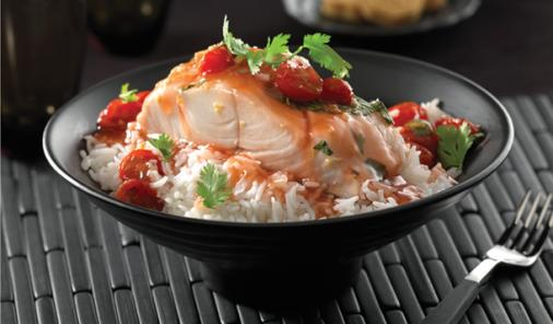 Steamed Cod With Gingered Tomatoes Recipe