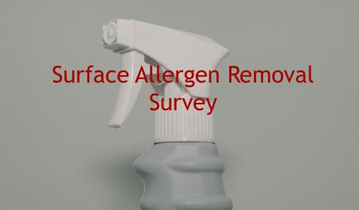 surface allergen removal survey