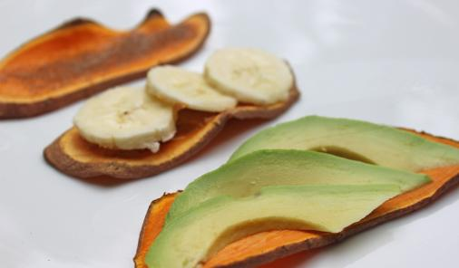 Sliced sweet potatoes toast up beautifully for the easiest, healthiest breakfast ever