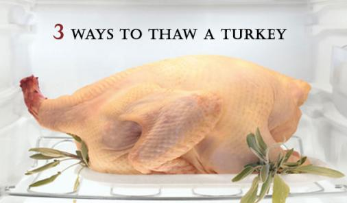 Learn how to safely thaws your holiday turkey to avoid bacterial growth and cross-contamination.