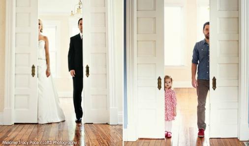 wedding picture recreation