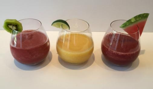 There are no realrecipesrules for this easy entertaining wine slushy—use whatever fruit combos you like or findinspirationfromthe flavour notes of your favourite summer wines. | YMCFood | YummyMummyClub.ca