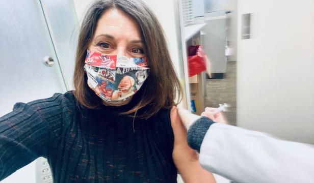 Erica Ehm Gets the AstraZeneca Vaccine