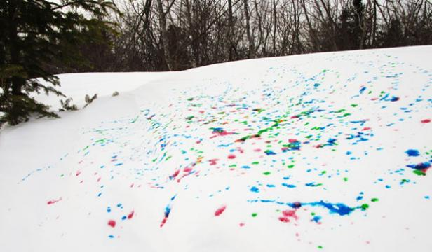 Get crafty with all the snow in your yard