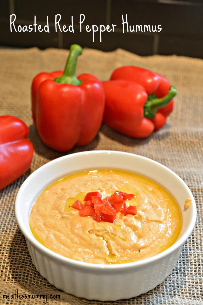 Protein packed snack roasted red pepper hummus recipe for Recipe red pepper hummus
