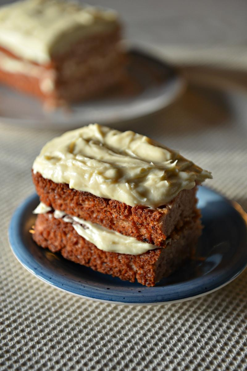 This is a delicious, not-too-sweet cake that can be made vegan or not, depending on your preferences. It goes wonderfully with coconut whipped cream, or layered with buttercream or cream cheese frosting. However you slice it, it's bliss! | YMCFood | YummyMummyClub.ca