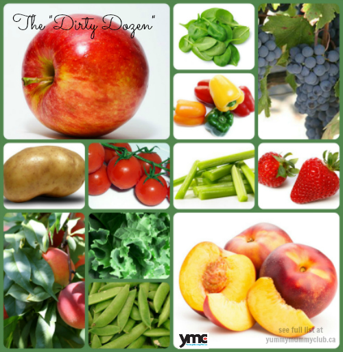 how to clean dirty dozen foods