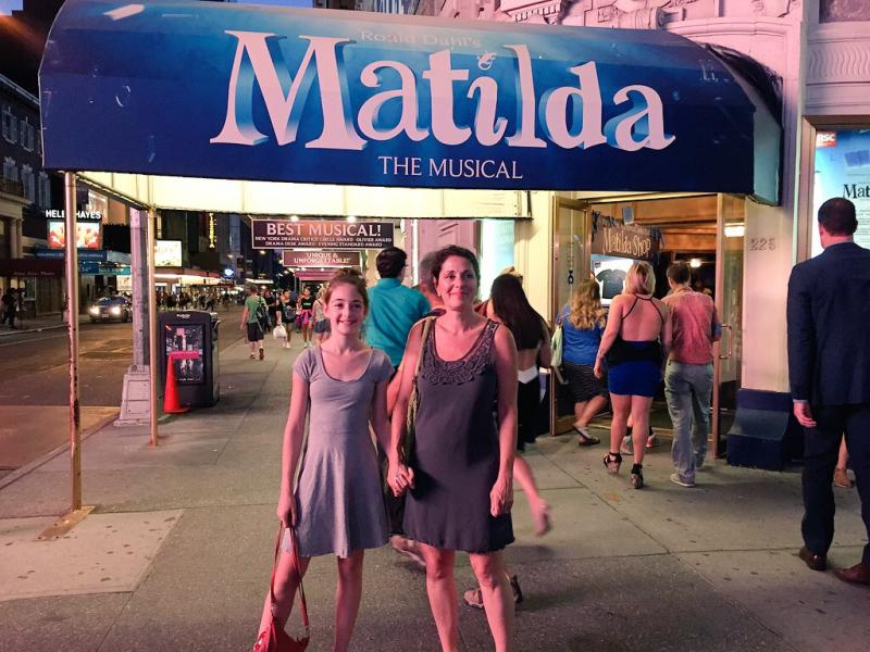 Seeing Matilda on Broadway in NYC