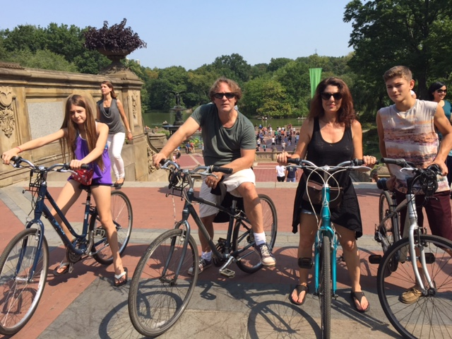 cycling in Central Park with Kids