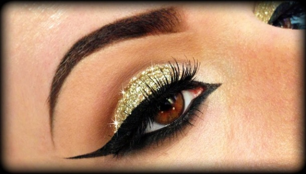 How to use glitter eye shadow