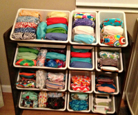 Jessica uses a toy organizer for storage which can be found here. & Clever Cloth Diaper Storage :: YummyMummyClub.ca