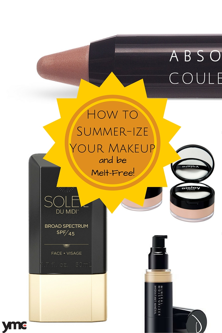 Warm weather means reduced durability with make up.  Like changing your seasonal wardrobe, for the hot weather, it's time to summer proof your makeup as well. | Beauty | YummyMummyClub.ca