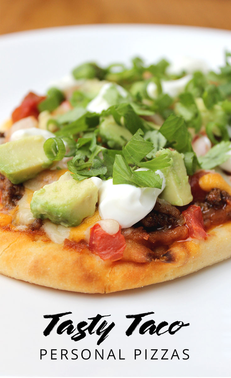 Let the kids take charge of dinner with this easy recipe! Taco pizza is perfect for a birthday party, sleepover, or even a playdate. | YMC