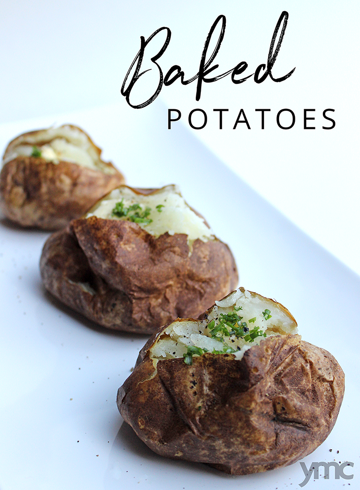 This chef-tested trick gives baked potatoes a tasty crispy skin and fluffier inside. Make this easy recipe for the perfect BBQ side dish everytime.| YMC
