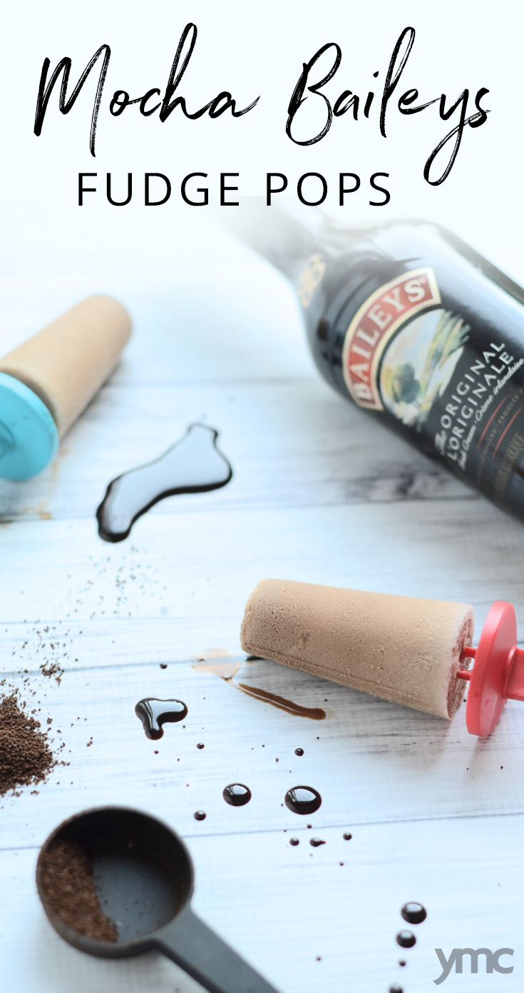 Adults need cool summer treats too! Try these luscious Mocha Baileys Fudgesicles, made with coffee, chocolate, and decadent, rich cream! | popsicles | alcoholic