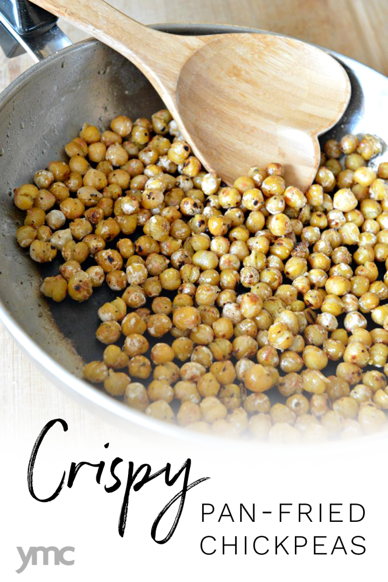 Chickpeas are versatile, inexpensive, and easy to store. They're a meatless plant-based food high in fibre, protein, and iron. Pan-fry chickpeas for a quick, vegan-friendly way to add nutrition to your meal! | Vegetarian