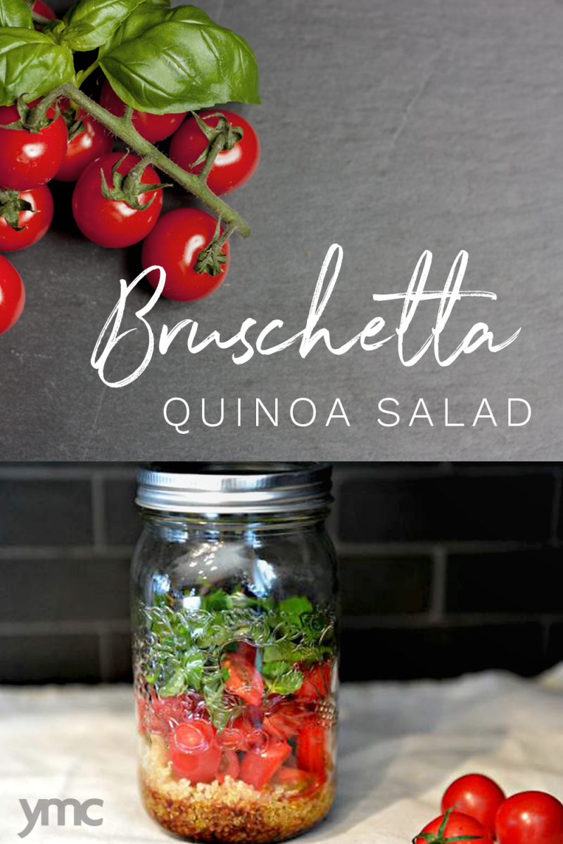 This bruschetta quinoa salad is so easy to make and it really incorporates the wonderful, fresh flavours of tomato and basil, with the added benefit of protein to keep you feeling full and satisfied all afternoon.