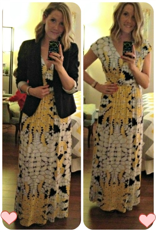 Maxi Dress with Cardigan