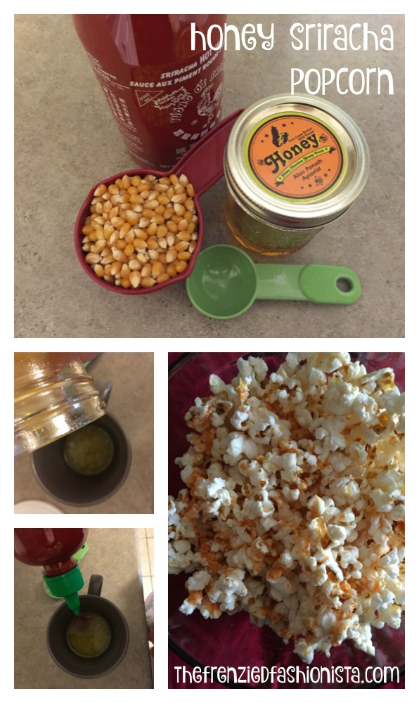Honey & Sriracha Popcorn recipe