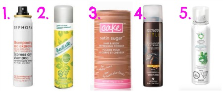 How to use dry shampoo on those days where you simply don't have time to wash and blow dry your hair.