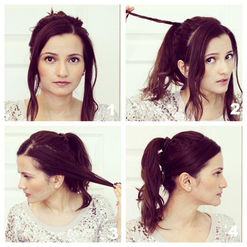 How to style shoulder length hair for festive occasions sleek ponytail urmus Choice Image
