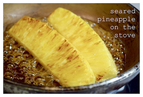 seared pineapple