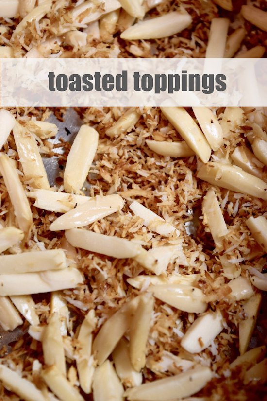 toasted toppings