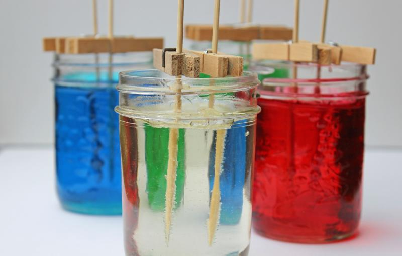 Rock candy science experiment
