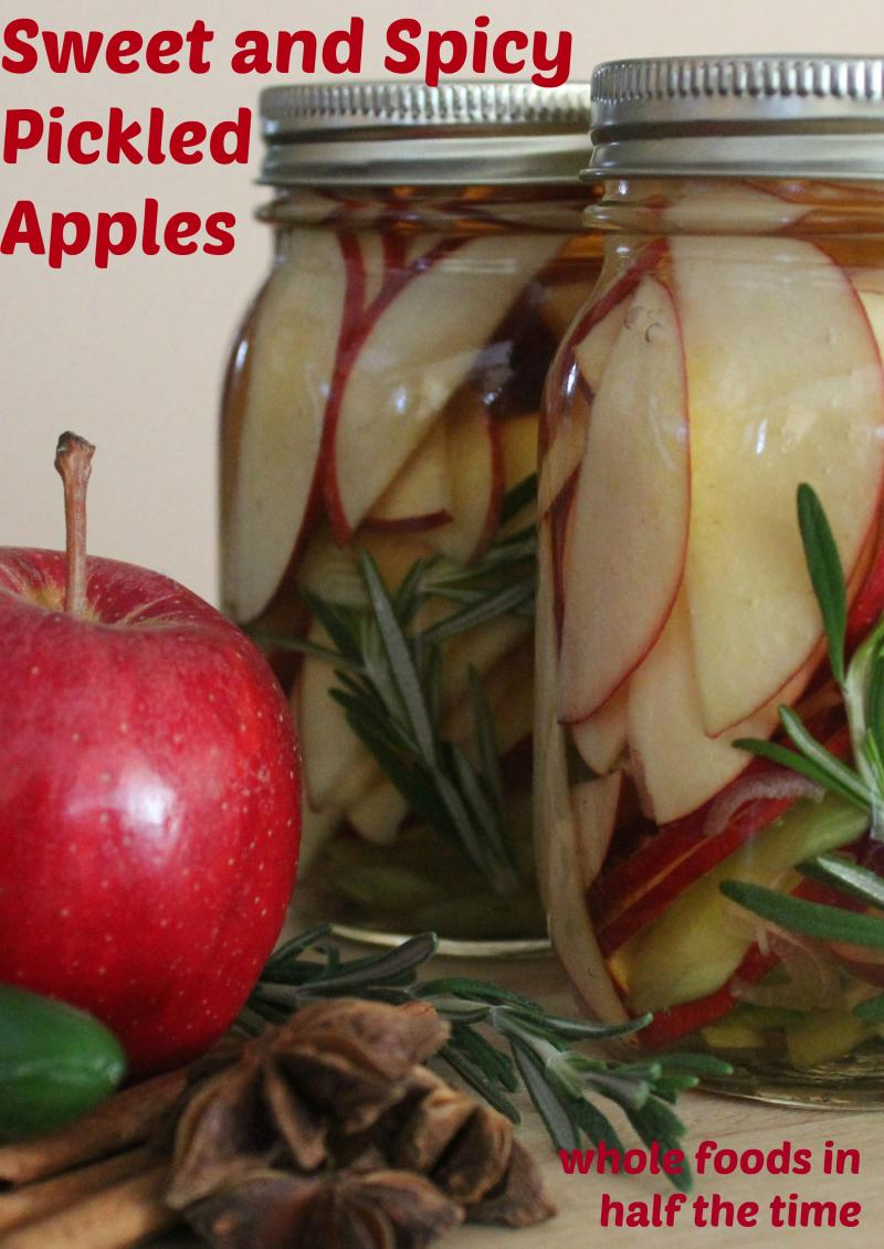 Sweet and Spicy Apple Pickles
