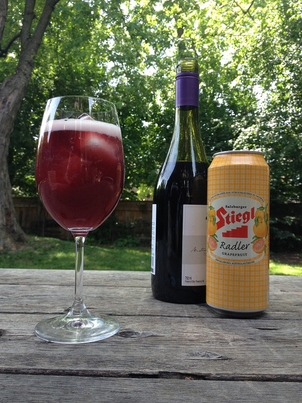 30 Second Sangria. It's 2 ingredients, and a hit at any party! | YummyMummyClub.ca