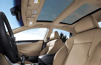 2013 Hyundai Sonata Hybrid panoramic sunroof