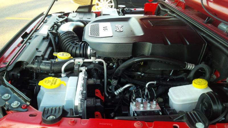 2014 Jeep Wrangler under the hood
