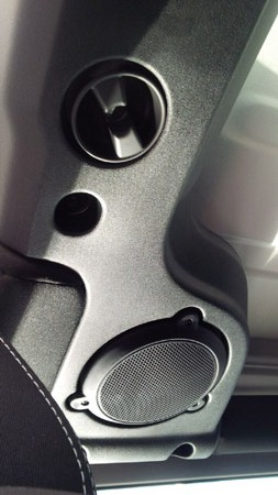 2014 Jeep Wrangler rear speaker