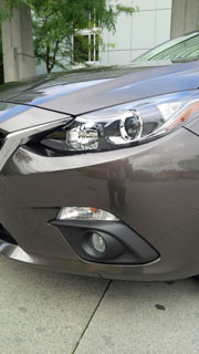 2014 Mazda3 front headlight