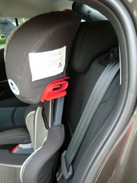 2014 Mazda3 rear headrest