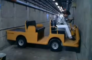 Austin Powers warehouse U-turn