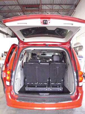 Dodge Caravan sunken trunk
