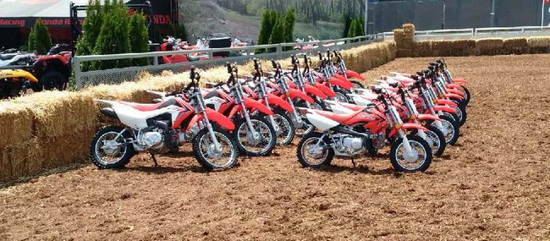 Honda Junior Red Riders dirt bikes