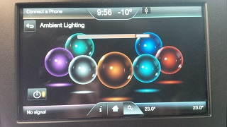 MKZ interior ambient light