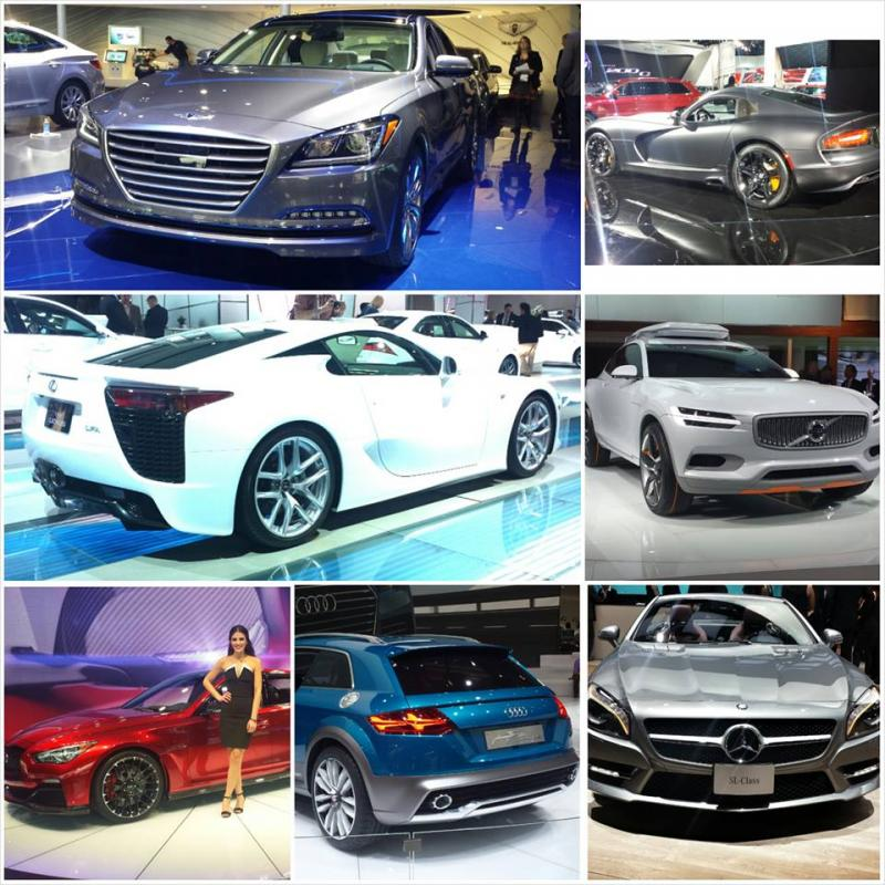 2014 NAIAS cars collage